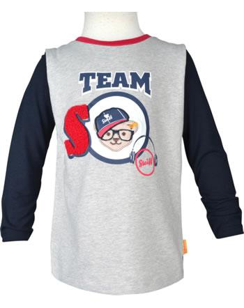 Steiff T-shirt à manches longue BEAR TO SCHOOL soft grey melange 2021101-9007