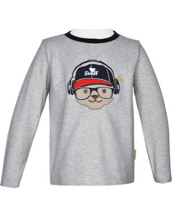 Steiff T-Shirt long sleeve BEAR TO SCHOOL soft grey melange 2021102-9007