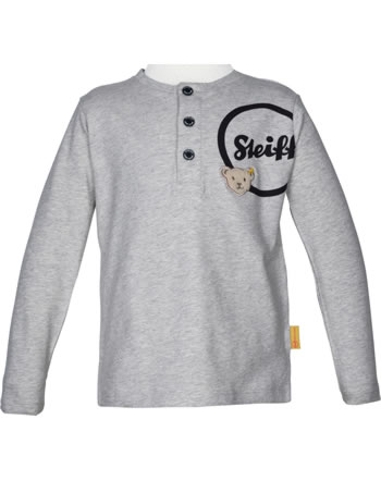 Steiff T-Shirt long sleeve BEAR TO SCHOOL soft grey melange 2021103-9007