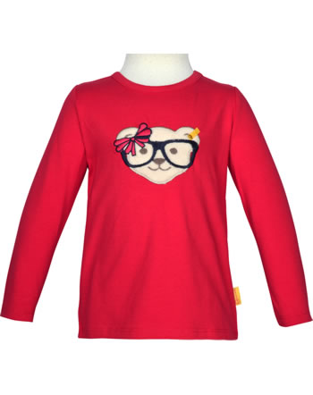 Steiff T-shirt à manches longue BEAR TO SCHOOL tango red 2021210-4008