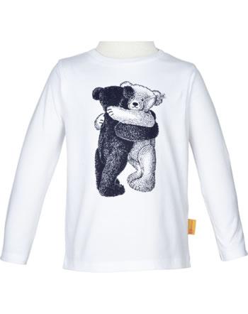 Steiff T-Shirt Langarm GO BEAR GO bright white 2011421-1000