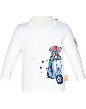 Steiff T-Shirt Langarm HIGH FIVE Baby Boys bright white 2111319-1000