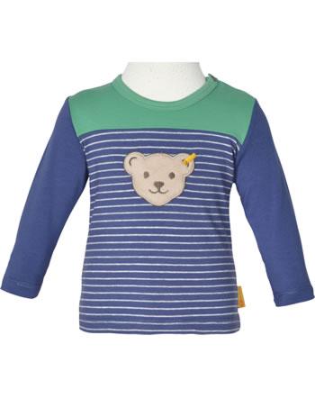 Steiff T-Shirt long sleeve HIGH FIVE Baby Boys deep cobalt 2111321-6062