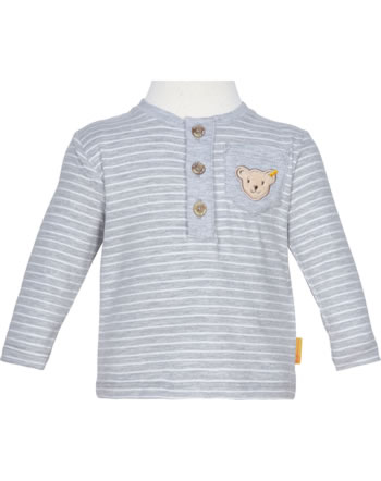 Steiff T-Shirt long sleeve HIGH FIVE Baby Boys soft grey melange 2111312-9007