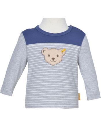 Steiff T-Shirt long sleeve HIGH FIVE Baby Boys soft grey melange 2111321-9007