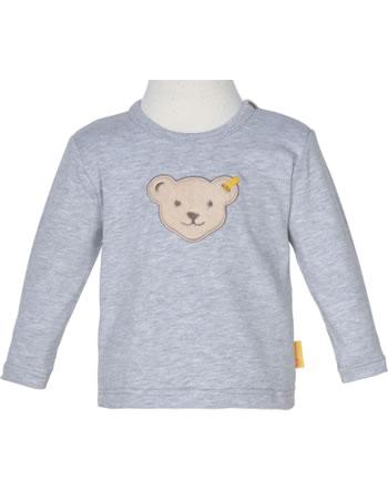 Steiff T-Shirt long sleeve HIGH FIVE Baby Boys soft grey melange 2111333-9007
