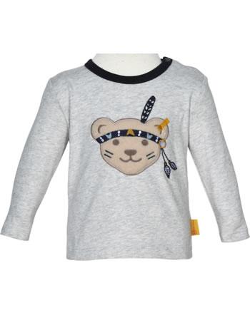 Steiff T-Shirt long sleeve INDI BEAR Baby Boys soft grey melange 2022340-9007