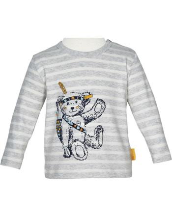 Steiff T-Shirt long sleeve INDI BEAR Baby Boys soft grey melange 2022341-9007