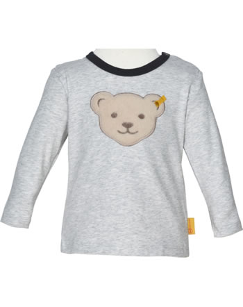 Steiff T-Shirt long sleeve INDI BEAR Baby Boys soft grey melange 2022342-9007