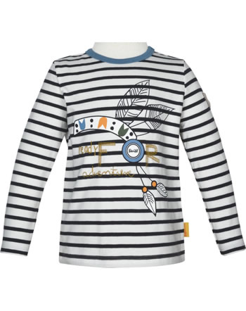 Steiff T-Shirt Langarm INDI BEAR Mini Boys cloud dancer 2022116-1001