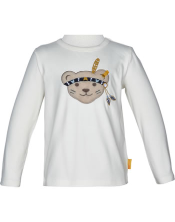 Steiff T-Shirt long sleeve INDI BEAR Mini Boys cloud dancer 2022129-1001