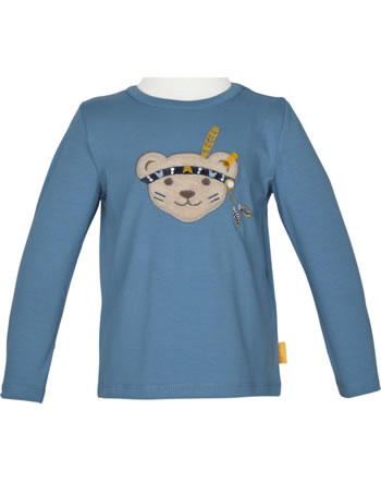 Steiff T-Shirt Langarm INDI BEAR Mini Boys coronet blue 2022129-6048