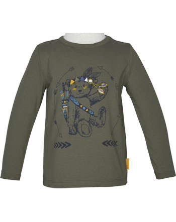 Steiff T-Shirt long sleeve INDI BEAR Mini Boys dusty olive 2022115-5020