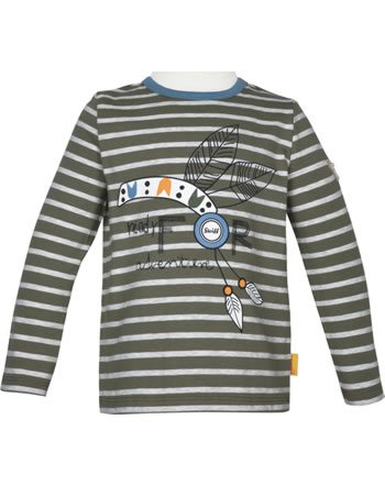 Steiff T-Shirt Langarm INDI BEAR Mini Boys dusty olive 2022116-5020