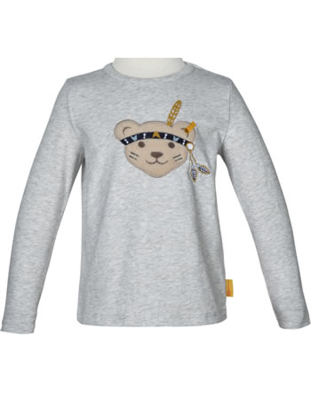 Steiff T-Shirt Langarm INDI BEAR Mini Boys soft grey melange 2022129-9007