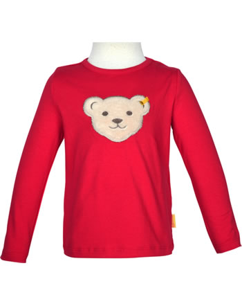 Steiff T-Shirt Squeaker long sleeve BEAR TO SCHOOL tango red 2021203-4008