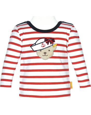 Steiff T-Shirt long sleeve MARINE AIR Baby Girls true red 2112438-4015