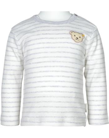 Steiff T-Shirt long sleeve ORGANIC LUCKY CHARM Baby nimbus cloud 2122607-9017