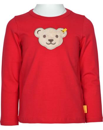Steiff T-Shirt Langarm Quietsche AIRPLANE Mini Boys tango red 2122113-4008