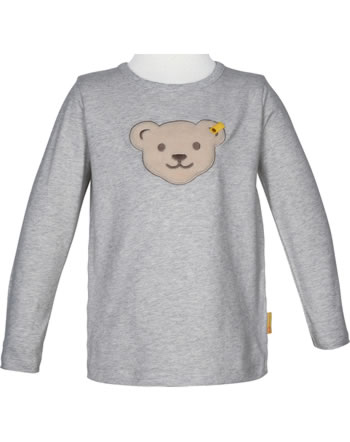 Steiff T-Shirt Squeaker long sleeve BEAR TO SCHOOL soft grey melange 2021117-9007