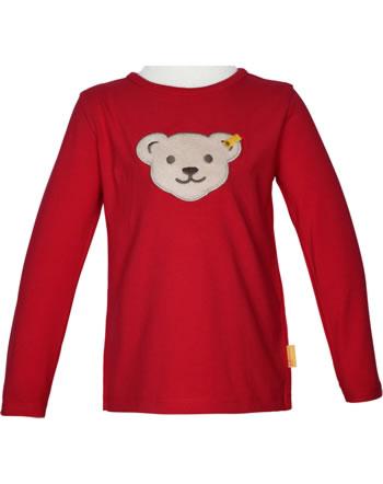 Steiff T-Shirt Squeaker long sleeve BEAR TO SCHOOL tango red 2021117-4008