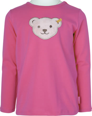 Steiff T-Shirt Langarm Quietsche BEST FRIENDS Mini Girls claret red 2123212-3057