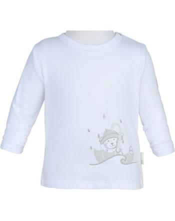 Steiff T-Shirt Langarm RAINDROPS BABY ORGANIC bright white 2022513-1000
