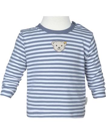 Steiff T-Shirt Langarm RAINDROPS BABY ORGANIC stonewash 2022512-6059