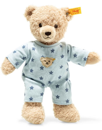 Steiff Teddybär Baby Junge mit Schlafanzug 25 cm beige/blau 241642
