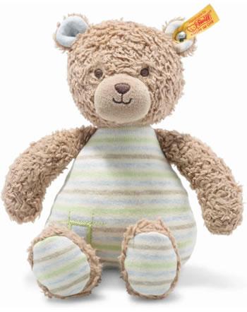 Steiff Teddybär Rudy 24 cm hellbraun/blau 242212 GOTS