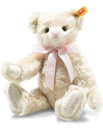 Steiff Teddybär zur Geburt 27 cm Mohair creme 001673
