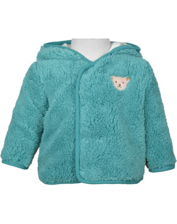Steiff Plush Jacket with hood FOREST FRIENDS Baby Boys adriatic blue 2023304-6045
