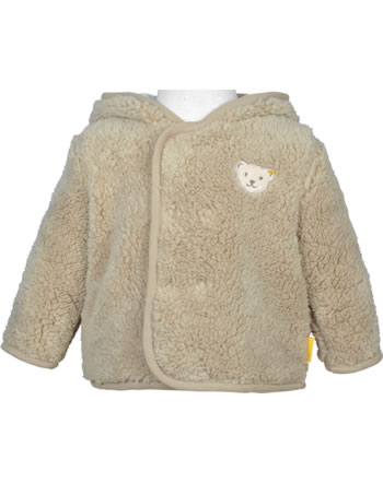 Steiff Plush Jacket with hood FOREST FRIENDS Baby Boys oxford tan 2023304-8010