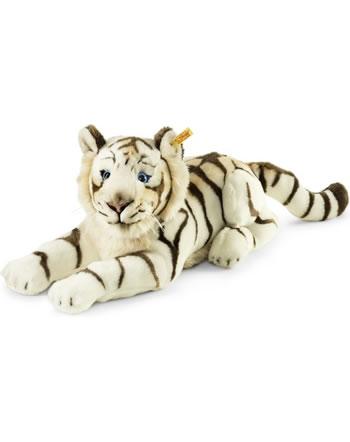 Steiff Tiger Bharat 43 cm weiß liegend 066153