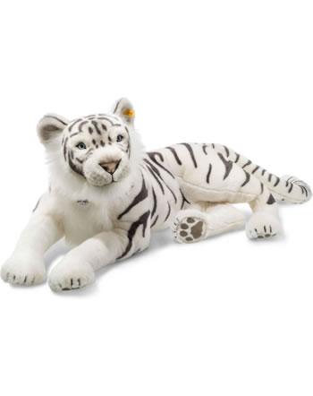 Steiff Tiger Tuhin 110 cm weiß liegend 075742
