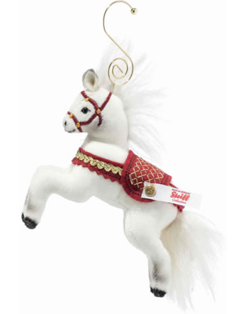 Steiff Christmas horse ornament  10 cm velvet white 006920