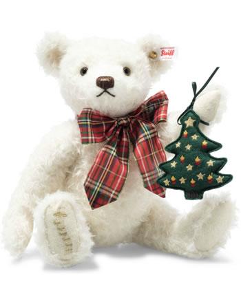 Steiff Weihnachtsteddybär 32 cm Mohair weiß 006906