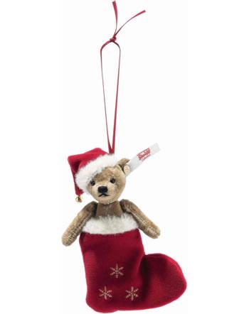 Steiff Christmas Teddy bear ornament 12 cm velvet brown 006043