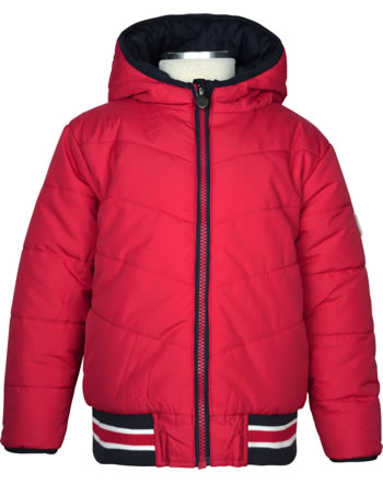 Steiff Jacket with hood BEAR TO SCHOOL tango red 2021127-4008