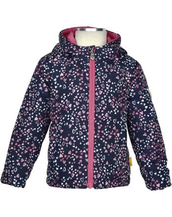 Steiff Reversible Jacket with hood HEARTBEAT black iris 2011306-3032
