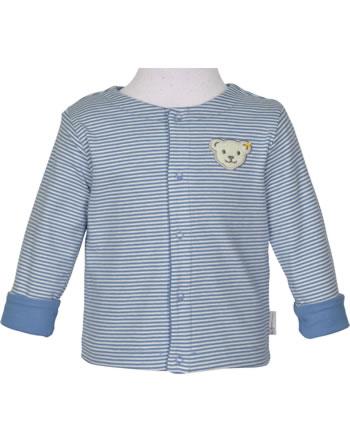 Steiff Reversible Sweat Jacket BABY GOTS UNISEX coronet blue 2112522-6048