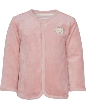 Steiff Wende-Sweatjacke ORGANIC DOTS Baby Girl silver pink 2122514-3015
