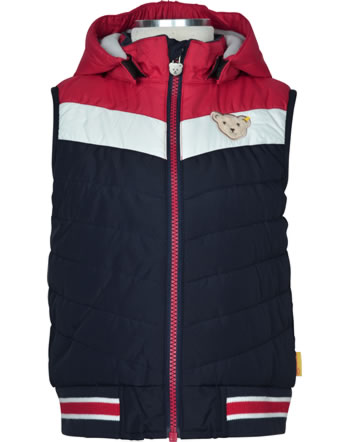 Steiff Vest with hood BEAR TO SCHOOL tango red 2021126-4008