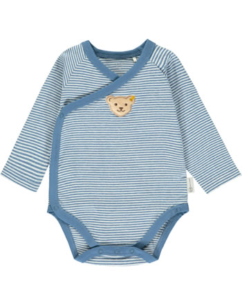 Steiff Wickel-Body Langarm BABY GOTS UNISEX coronet blue 2112506-6048