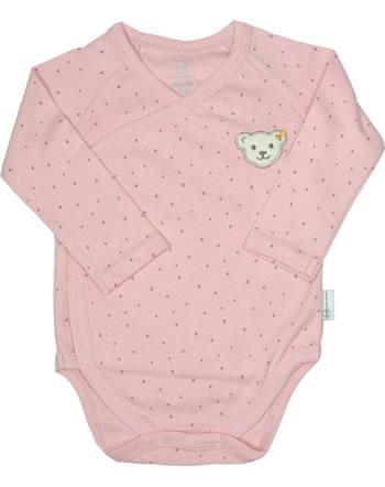 Steiff Bodysuit long sleeve BABY ORGANIC JUST DOTS silver pink 2122515-3015