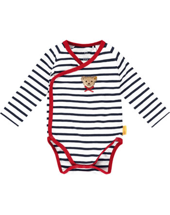 Steiff bodysuit long sleeve BEAR TO SCHOOL steiff navy 2021436-3032