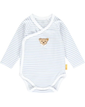 Steiff Wickel-Body Langarm HELLO SUMMER Baby Girls brunnera blue 2113406-6043