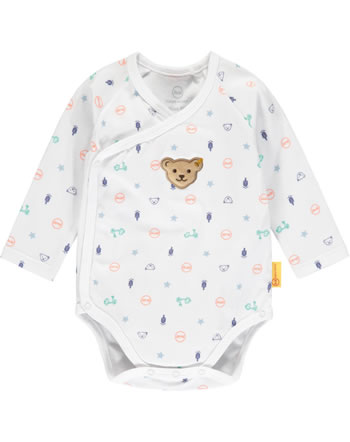 Steiff Bodysuit long sleeve HIGH FIVE Baby Boys bright white 2111331-1000