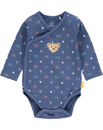 Steiff Bodysuit long sleeve HIGH FIVE Baby Boys deep cobalt 2111331-6062
