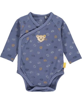 Steiff Wickel-Body Langarm LETS PLAY Baby Boys bijou blue 2121312-6066